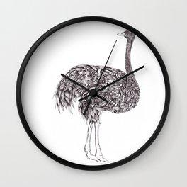 Zentangle Ostrich Wall Clock