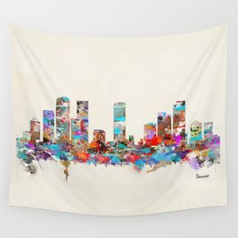 Denver Colorado skyline Wall Tapestry