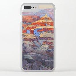 Grand Canyon Hiroshi Yoshida Vintage Japanese Woodblock Print Clear iPhone Case