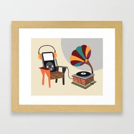 Retro Music Playlist II Framed Art Print
