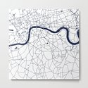 London White on Navy Street Map by mapmaker