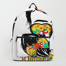 Kids Hello Third Grade Messy Bun Girls 3rd Grade Back To School  Backpack