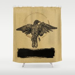 Quiet Bird Shower Curtain