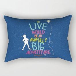 To Live is an Adventure Rectangular Pillow