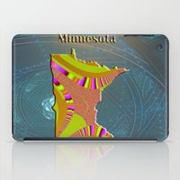 minnesota iPad Cases featuring Minnesota Map by Roger Wedegis