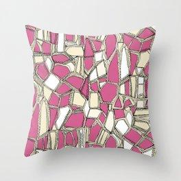 BROKEN POP pink Throw Pillow
