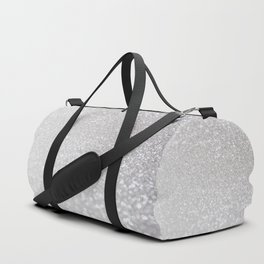Silver ice - glitter effect- Luxury design Duffle Bag