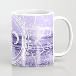 Water Om Mandala Lavender Coffee Mug