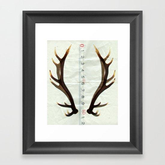 antlers measure Framed Art Print