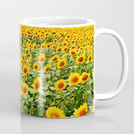 Field of Sunny Flowers Coffee Mug