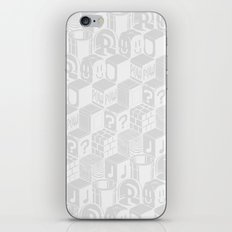 SUPER MARIO BLOCK-OUT! (White Edition) iPhone & iPod Skin
