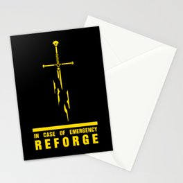 In case of emergency reforge Stationery Cards