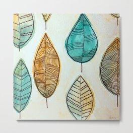 Rustic Leaves Metal Print