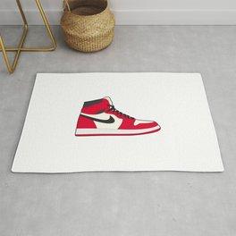 Jordan 1 White Red Rug