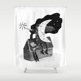 Poet Shower Curtain