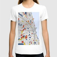 mondrian T-shirts featuring Chicago Mondrian by Mondrian Maps
