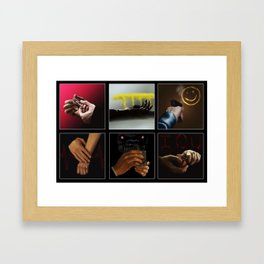 Sherlock - Hands Framed Art Print