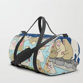 Snow Monkeys in Hot Spa Duffle Bag