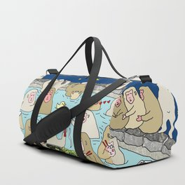 Snow Monkeys in Hot Spa Duffle Bag