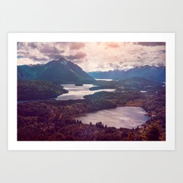Lake in the mountains Art Print