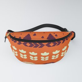 Holiday pattern with Christmas trees Fanny Pack