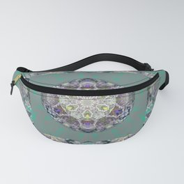 Heart Source Meditation Luminescent Green Boho Mandala Fanny Pack