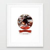 league of legends Framed Art Prints featuring League Of Legends - Akali by TheDrawingDuo
