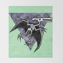 Pterodactyl Fossil Throw Blanket