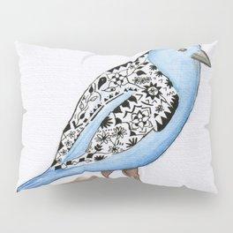 Little Blue Bird Pillow Sham