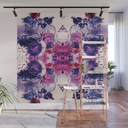 Wine & Flowers Photographic Pattern #1 Wall Mural