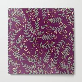 Leaves In Colors 4 Metal Print