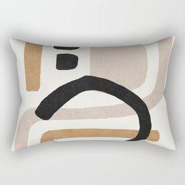 Abstract shapes art, Mid century modern art Rectangular Pillow