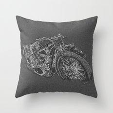Vintage BMW R32 Motorcycle Throw Pillow