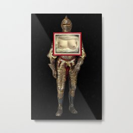 Yes She Can Metal Print