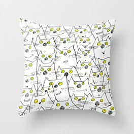 All Cat Eyes Are On You Throw Pillow