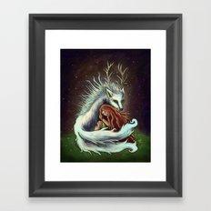 Spirit Wolf Framed Art Print