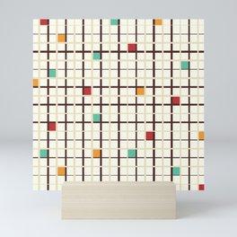 Grid pattern Mini Art Print