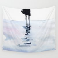 agnes Wall Tapestries featuring all around the sea by agnes-cecile