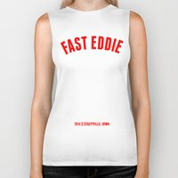eddie vedder Biker Tanks featuring FAST EDDIE by SIX PEAKS