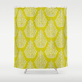 SPIRIT lime white Shower Curtain