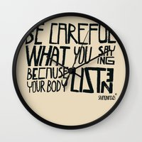 body Wall Clocks featuring body by smaomao