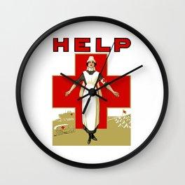 Vintage Red Cross -- Help Nurse Wall Clock