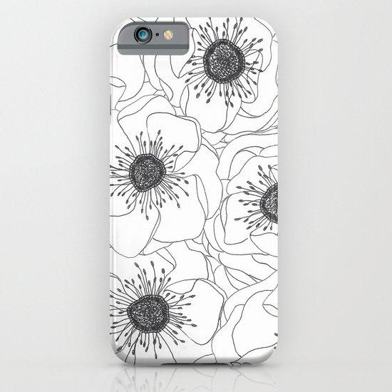 White Anemones iPhone & iPod Case