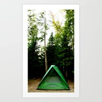 camp Art Prints featuring Camp by Inverse Funk