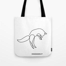 jumping FOX Tote Bag