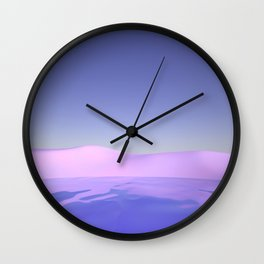 Purple Beach Wall Clock