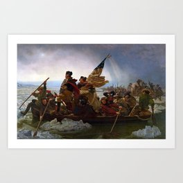 George Washington Crossing Of The Delaware River Painting Art Print