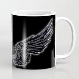 Black Angel Wings Coffee Mug