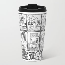 Living With Your Cat Comic Travel Mug