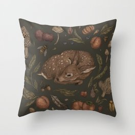 Foraging Fawn Throw Pillow